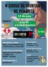 Cartell de la cinquena cursa de muntanya de Perafita