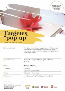 Cartell del taller de Targetes pop-up