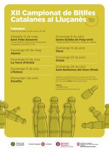 Calendari XII Campionat de Bitlles Catalanes